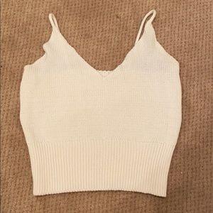 Brandy Melville sweater tank cropped